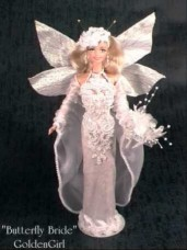"""Butterfly Bride"" Custom Fantasy Doll by GoldenGirl"